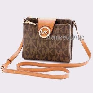 Michael Kors  Signature Brown  Crossbody Bag